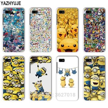 YAZHYUJE For Blackberry Z10 Z30 A10 Q10 Q20 Q5 All pokemons Minions hard back Cover Phone Case Coque Fundas Capa Shell