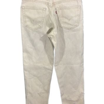Levi's 550 Made USA Relaxed Fit Tapered Leg Beige Men's 32 x 32 Actual 31 x 32-Preowned