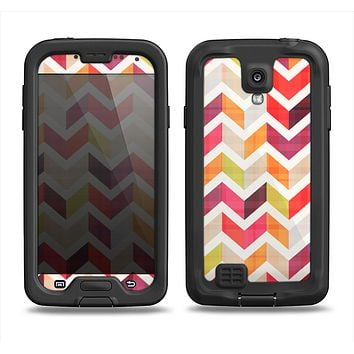 The Colorful Segmented Scratched ZigZag Samsung Galaxy S4 LifeProof Fre Case Skin Set