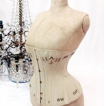FINAL SALE !!!! Extremly rare late 1800s corset // antique corset // victorian corset // edwardian corset // 20s // rare corset // antique