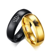 Lovers' Ring Black Gold Color Couple Ring