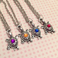 Ninja Turtles Best Friends Inspired Necklaces - Best Friends Jewelry - Fandom Jewelry - Turtles In A Half Shell - TMNT Jewery