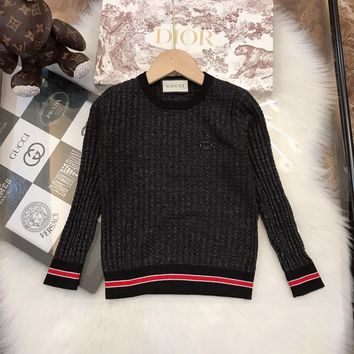 Gucci Girls Sweaters Children's pullover Floral Sweater Girls pullover baby girls Autumn&winter   clothes Kids thick coat