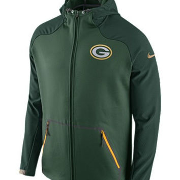 Nike Men's Green Bay Packers Champ Drive Hyperspeed Sphere Jacket