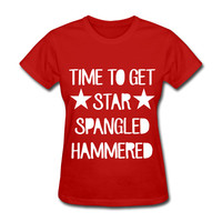 Time To Get Star Spangled Hammered Men's T-Shirt 4th of July Party Funny Drunk Tank
