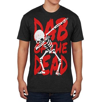 Halloween Day Dab of the Dead Skeleton Mens Soft T Shirt