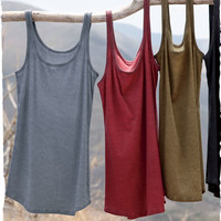 Ribbed Tank - Short Sleeve & Sleeveless - Tees & Tops