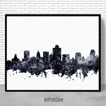 Salt Lake City Print, Salt Lake City Skyline, Salt Lake City Utah, City Skyline Prints, Skyline Art, Cityscape Art, ArtPrintZone