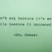 DR. SEUSS Famous Quote Hand Typed Quote Made with Vintage Typewriter Dr. Seuss Quote