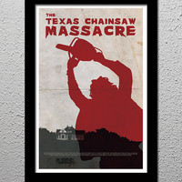 The Texas Chainsaw Massacre - Tobe Hooper - Horror Movie Cult Limited Edition Original Art Poster Print - 13x19