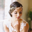 Bridal flower crown, circlet, wedding hair accessory, pearl tiara, ribbon tie / Lily style 1929