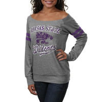 Kansas State Wildcats Women's Flash Dance Fleece Sweater – Gray