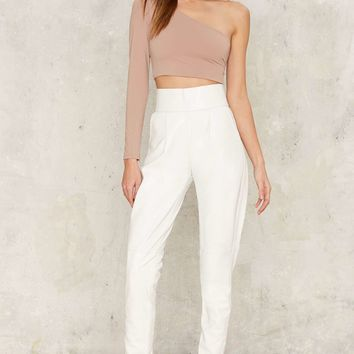 Asilio On the Run High-Waisted Pants - White