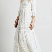 Bell Sleeves Maxi Dress in White
