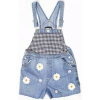 WAISTE | Patchwork Picnic Denim Dungarees as worn by Perrie Edwards Little Mix