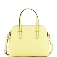 cedar street maise satchel bag, lemonade