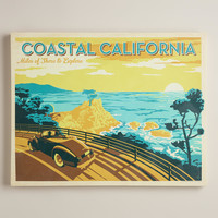 Vintage-Style  Coastal California Poster - World Market