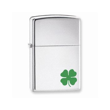 "Zippo A Bit ""O"" Luck High Polish Chrome Lighter - Engravable Gift Item"