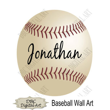 Baby Boy Wall Art, Baseball Wall Art, 8 x 10 Wall Art, Boy's Nursery Room, Kids Room Décor, Digital Wall Art, Baby Wall Decor, Nursery Decor