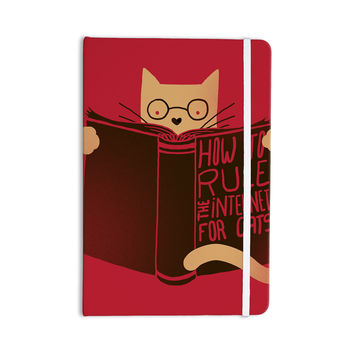 "Tobe Fonseca ""How to Rule the Internet For Cats"" Red Typography Everything Notebook"