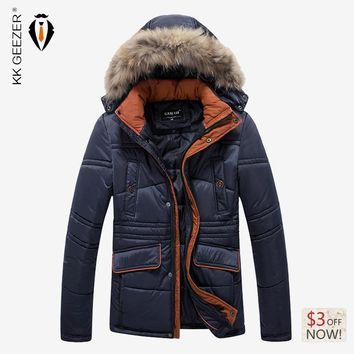 High Quality Brand Winter Men Warm Cotton Jackets Men Casual Thick Coat Hooded Down Coat Fashion Work Parka Male Parka Outerwear