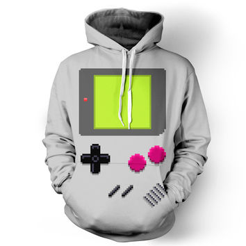 Game Boy Hoodie in 3d Printed Sweatshirts with Front Pocket Drawstring and Ear!