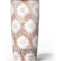 Brown Watercolor Flowers V2 Yeti Rambler Skin Kit