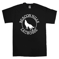 beacon hills lacrosse  For T-shirt Unisex Adults size S-2XL Black and White