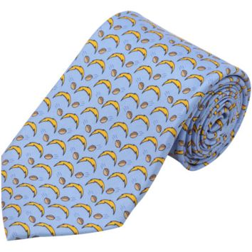 Vineyard Vines San Diego Chargers Mini Logo Silk Tie - Light Blue