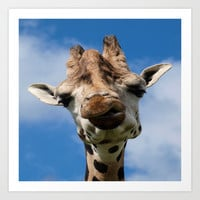 Hello Giraffe Art Print by Aloke Photography & Design