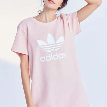 adidas Originals Trefoil Oversized T-Shirt Dress | Urban Outfitters