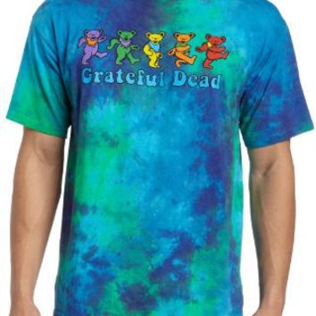 Liquid Blue Men's Grateful Dead Dancing Bear T-Shirt
