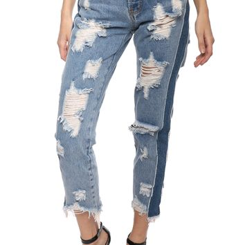Brooklyn Karma Destroyed Side Jeans