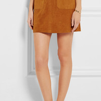 Frame Denim - Le High suede mini skirt
