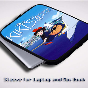 kiki's delivery service X0621 Sleeve for Laptop, Macbook Pro, Macbook Air (Twin Sides)