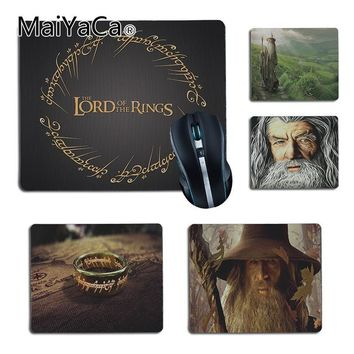 MaiYaCa  The Lord of the Rings Gandalf The Fellowship  Office Mice Rubber Mouse Pad Size 25x29cm 18x22cm Rubber Mousemats