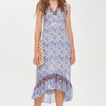 Ditsy Lace Trim Maxi Dress | Topshop