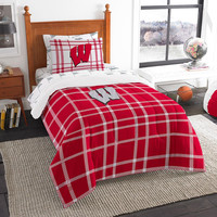 Wisconsin Badgers NCAA Twin Comforter Bed in a Bag (Soft & Cozy) (64in x 86in)