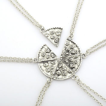 Pizza Pendant Necklaces Friendship Necklace Best Friends Forever Creative Keepsake Memorial Day For Friends SM6
