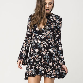 FULL TILT Floral Keyhole Dress | Short Dresses