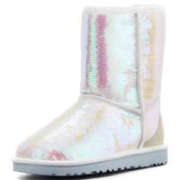 I Do! Sparkles Short Bridal Shearling Boot, White - UGG Australia