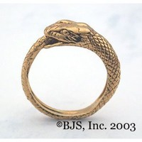14k. Gold Snake Eating Tail Ring
