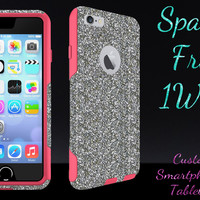 "OtterBox Commuter Series Case for 4.7"" iPhone 6 - Custom Glitter Case for 4.7"" iPhone 6 - White Gold/Pink"