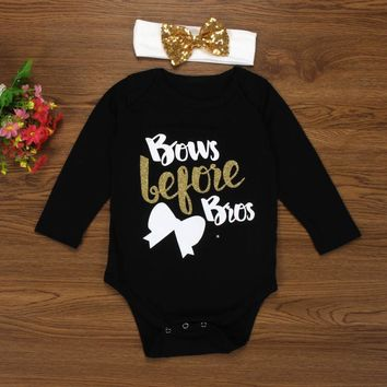 Bows Before Bros Infant Baby Onesuit Bodysuit