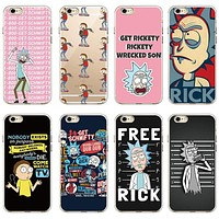 Rick And Morty Funny Cartoon Comic Meme Soft Clear Phone Case Cover Fundas Coque For iPhone 7 7Plus 6 6S 6Plus 8 8PLUS X SAMSUNG
