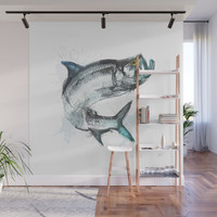 Tarpon Fish Wall Mural by allisonreich