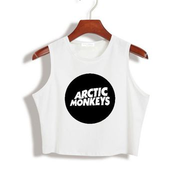 Women Crop Top Harajuku Arctic Monkey Print Sexy Slim Shirt For Tank Top Tee Hipster Vest Latest Drop Ship TZ203-758