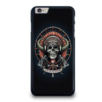 affliction indian skull iphone 6 6s plus case cover  number 1