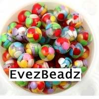 Candy Filled Resin Clear Globe Loose Beads | evezbeadz - Craft Supplies on ArtFire