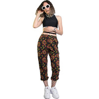 Wicked 90s Flames Pants - Y2K Cyberpunk - 1990s 90s Novelty Print Fire Devil Pants - Activewear Slacks - Print Pants Trousers Pajama Pants